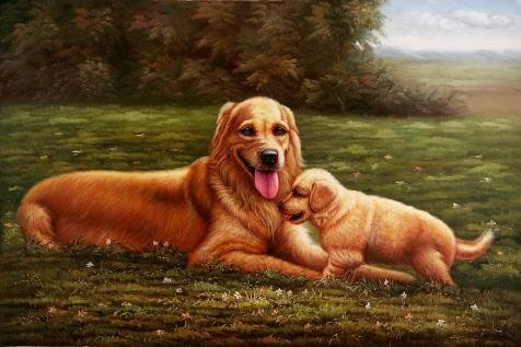 Curtain Call Dance Costumes 2016 (Oil Painting 'Dogs Playing On The Grass' Printing On High Quality Polyster Canvas , 12x18 Inch / 30x46 Cm ,the Best Home Theater Gallery Art And Home Decor And Gifts Is This High Quality Art Decorative Prints On Canvas)