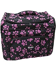 Wahl Professional Animal Travel Tote Bag with Zipper, Berry Paw Print Design (#97764-400)