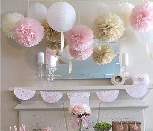 Fluffy Tissue Flower Wedding Decorations product image