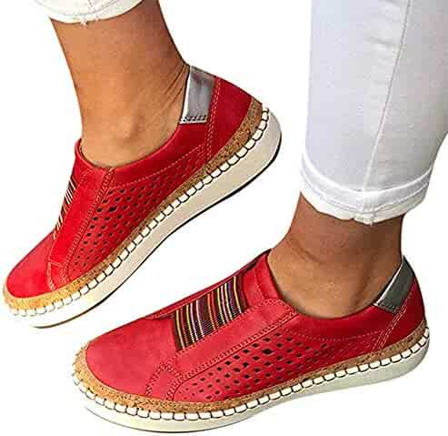 e644bff328 Hollow-Out Round Toe Casual Women Sneakers,Womens New Casual Hollow-Out Flat