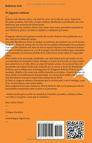 El juguete rabioso (Narrativa) (Spanish Edition): Robert Arlt, Adriana López-Labourdette: 9788499531052: Amazon.com: Books
