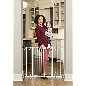 Regalo Easy Step Extra Wide Baby Gate, Includes 4-Inch and 4-Inch Extension Kits, 4 Pack of Pressure Mounts Kit and 4 Pack of Wall Mount Kit 46