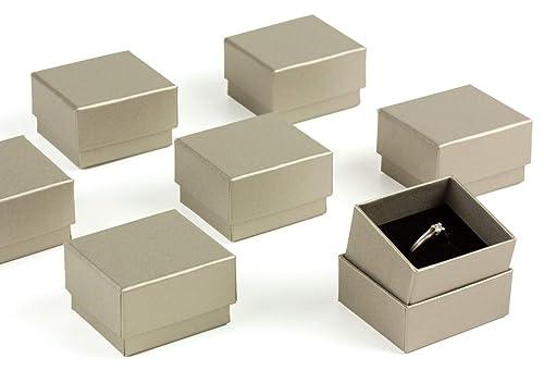 ESTUCHES CARMON Pack 60 Cajas para Sortija Anillo Forradas ...
