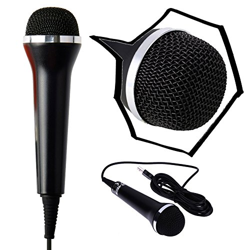Gam3Gear Universal 3M USB Audio Wired Karaoke Microphone Mic for PS4 Slim Pro PS3 Xbox One S 360 Wii PC 2017 version