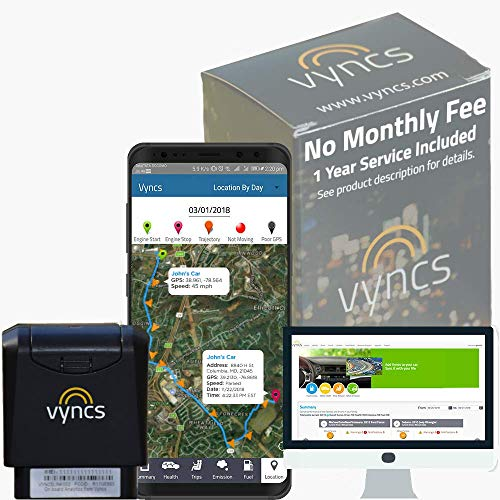 Monthly Fee OBD Real Time 3G Car GPS Tracking Trips Free 1 Year Data Plan, Teen Unsafe Driving Alert, Engine Data Fleet Monitoring Fuel Report Optional Roadside Assistance (Grey) ()