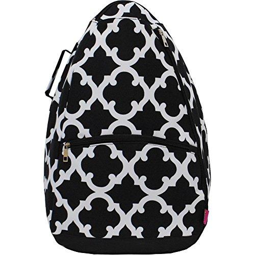 Black Geometric Clover NGIL Tennis Racquet Holder Backpack