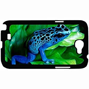 New Style Customized Back Cover Case For Samsung Galaxy Note 2 Hardshell Case, Back Cover Design AZURE FROG Personalized Unique Case For Samsung Note 2