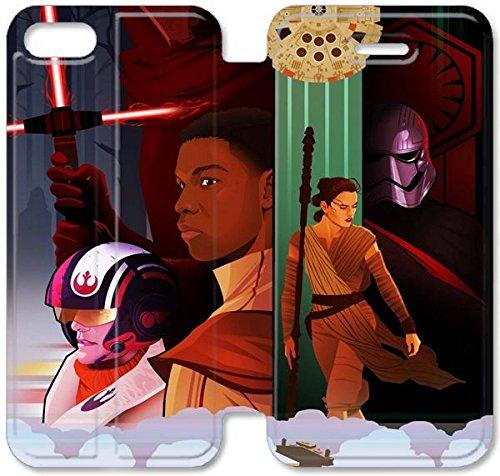Klreng Walatina® Coque iPhone 6 6s Plus de 5,5 pouces Coque cuir américaine Epic Film Star Wars The Force réveille O8B3Vf