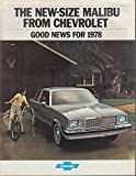 1978 Chevrolet Malibu sales brochure Classic Landau El Camino Wagon