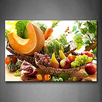 Amazon.com: Colorful Various Vegetables And Fruit Wall Art ...