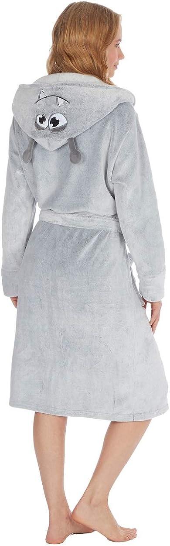 elegante Kate Morgan Vestaglia con cappuccio da donna morbida e avvolgente
