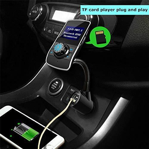 Manos Libres Bluetooth 3,0 Reproductor Adaptador de Radio Soporte de Tarjeta TF y 3.5mm AUX Pantalla de 1.44 Pulgadas Dual USB Carga r/ápida 5V 1.0A // 2.1A Aigoss Transmisor FM Bluetooth Coche