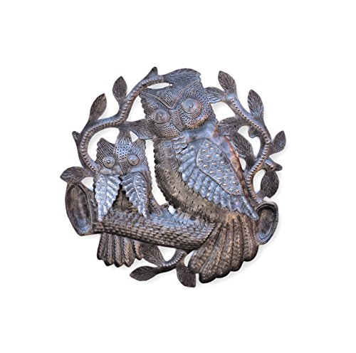 - it's cactus - metal art haiti Owls, Metal Wall Art, Handmade in Haiti, Steel Drum Decor 11