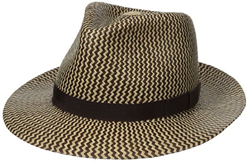 Bailey of Hollywood Men's Milo Fedora, Natural/Walnut, Small - Hollywood Walnut
