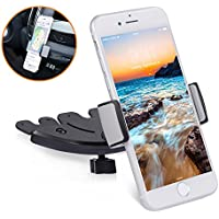 Amoner Universal CD Slot Car Phone Mount, Car Phone Holder Cradle for iPhone X/8/8Plus/7/7Plus/6s/5S, Samsung Galaxy/Note, GPS Devices, HTC, LG, Google, Huawei and More Android Devices