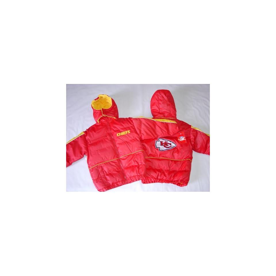 Kansas City Chiefs Kids Hooded NFL Bubble Jacket