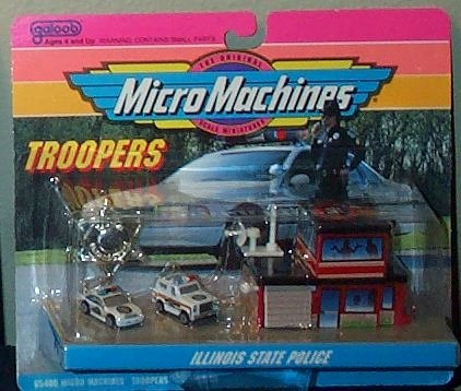 Car Caprice Police - Illinois State Police Micro Machines Troopers Set #8