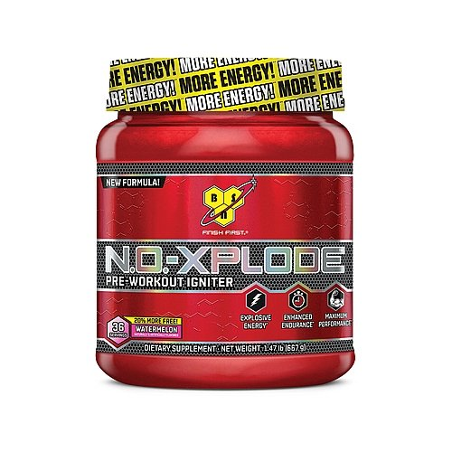 BSN N.O.-XPLODE Pre-Workout Igniter - Watermelon - 20 MORE FREE