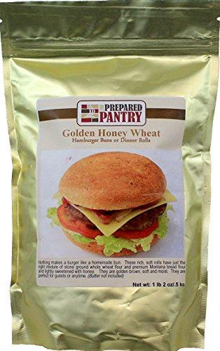 The Prepared Pantry Golden Honey Wheat Hamburger Buns Bread Machine Mix, 18 Ounce (Pack of 20)