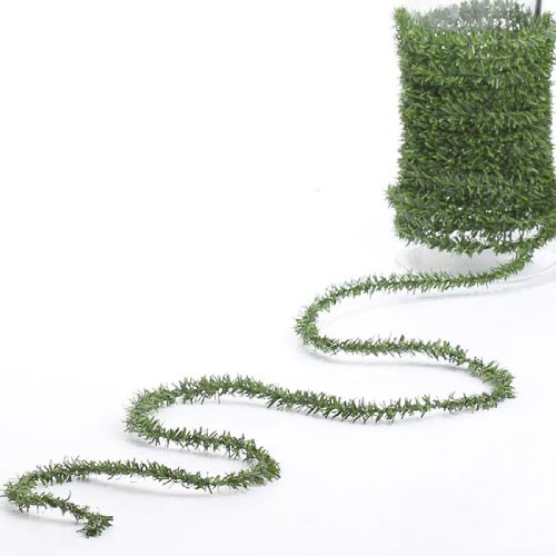 Darice DS-6182 Canadian Pine Rope, One Size, Green (Garland Mini Christmas)