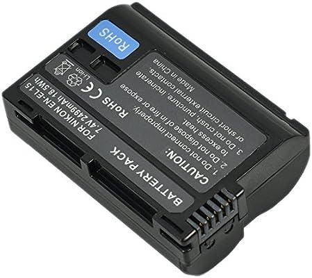 EN-EL15 Batería+Cargador AC/DC Single para ENEL15 EN-EL15a ENEL15a ...