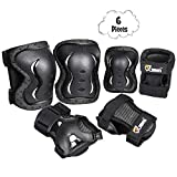 JBM Kids & Adults Knee and Elbow Pads with Wrist Guards Protective Gear Set, Impact Resistance for your Children Outdoor Activities' Adventure, Roller Skating, Cycling, Scooter, Skateboarding Pads Set