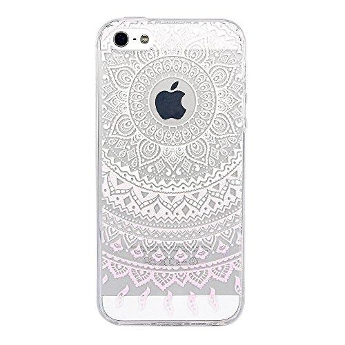 Vanki® Fundas iPhone 5S 5 SE, Suave TPU Funda Parachoques Funda Absorción de Impactos y Anti-Arañazos Case Cover Carcasa Para iPhone 5S 5 SE 12