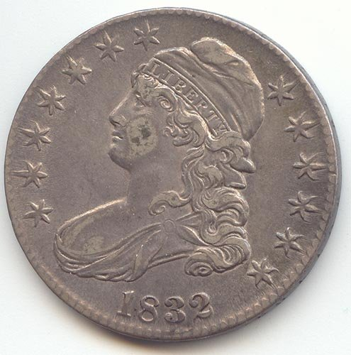 (1832 Capped Bust Small Letters Half Dollar Choice Extra Fine)