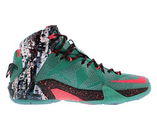 nike lebron XII 12 hombres zapatillas de baloncesto tipo botín 684593 zapatillas james Emerald Green/Hyper Punch/Dark Emerald