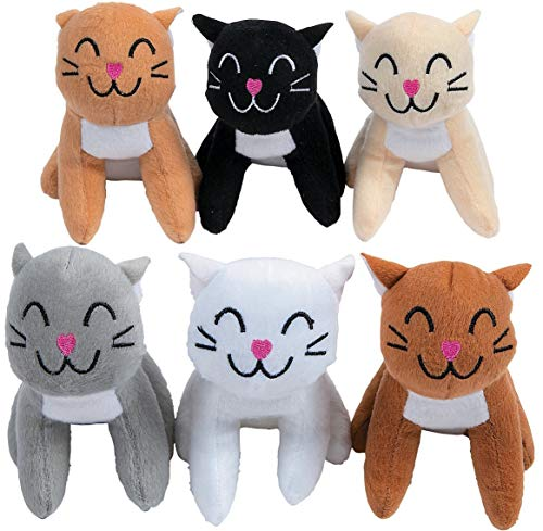 (Fun Express Realistic Plush Cats (1 dozen)-Toys-Party)