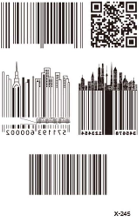 DRTHUKG Etiqueta Engomada del Tatuaje Diseño De Código De Barras ...
