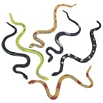 Kicko-14-Assorted-Big-Rainforest-Snakes-12-Pieces-Stretchy-Limbless-Replica-Reptiles-Gag-Toy-Gift-Idea-Carnival-Game-Prizes-Science-Nature-Eco-Friendly-Repellent-Goody-Bag-Bathtub-Floater