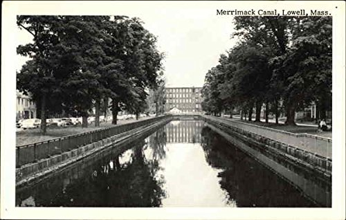 Merrimack Canal Lowell, Massachusetts Original Vintage Postcard