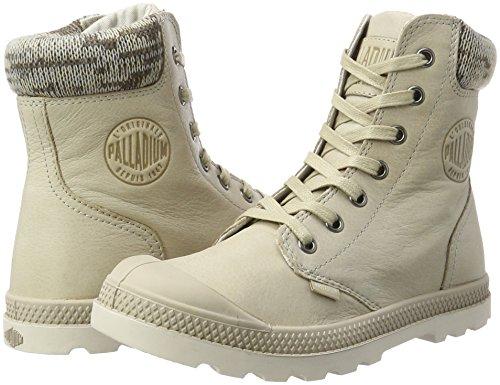 Sneaker Alto taupe F Lp Donna Collo A Pampa Palladium Knit moonbeam Marrone v60I8w