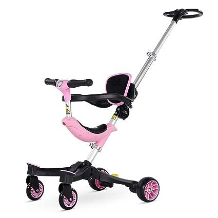Silla de bebé, Carrito de Triciclo para niños, luz Plegable ...