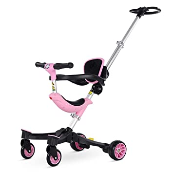 Silla de bebé, Carrito de Triciclo para niños, luz Plegable, bebé de Cuatro