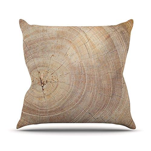 Kess InHouse Susan Sanders Aging Tree Wooden Outdoor Throw Pillow, 18