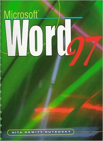 Book Microsoft Word 97