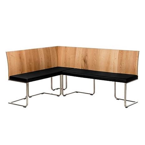Alkove - Hayes – Moderne Eckbank mit gepolsterter Sitzfläche, Wildeiche