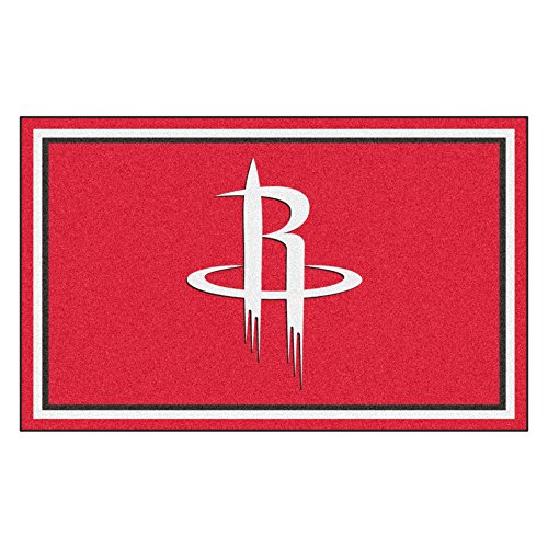FANMATS 20428 NBA - Houston Rockets 4'X6' Rug, Team Color, 44''x71'' by Fanmats