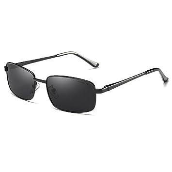 dd4293504e Espejo solar ZQ Gafas de Sol de Cara pequeña Modelos Masculinos Gafas de  Sol polarizadas pequeñas Gafas rectangulares Retro Gafas de Conductor de  Caja ...
