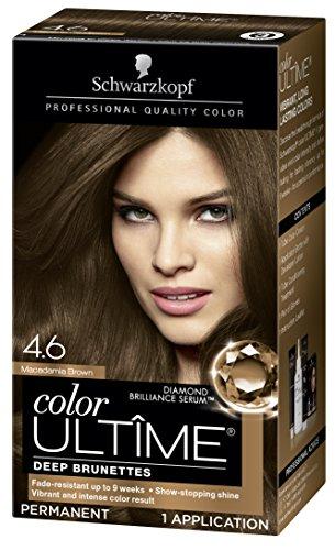 Schwarzkopf Color Ultime Hair Color Cream, 4.6 Macadamia Brown (Packaging May Vary)