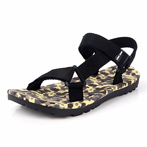 estate Roma sandali Uomini moda Il nuovo Camuffare sandali Uomini Tempo libero Spiaggia scarpa ,Beige ,US=9,UK=8.5,EU=42 2/3,CN=44