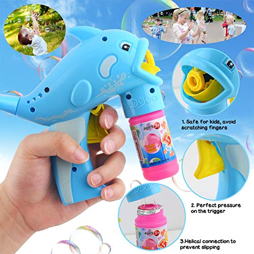 Amor Bubble Gun Blower Bubble Blaster for Party Supplies, Summer Toy, Outdoors Activity, Birthday Gift, Bubble Blower Toy