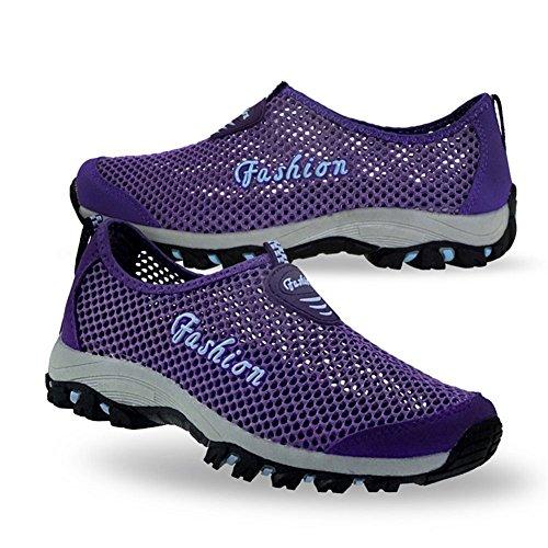 Eagsouni® Unisex-adulto Malla transpirable zapatillas/Zapatillas De Deporte/Zapatos del ocio/Peso ligero Running zapatillas verano Morado