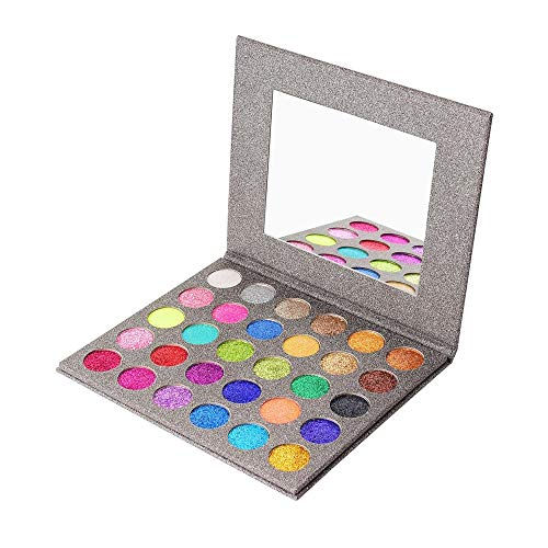 - MISKOS Glitter Eyeshadow Pallet 30 Colors Highly Pigmented Mineral Foiled Long-Lasting Shimmer Powder Eye Shadow Palette Waterproof Makeup Kit
