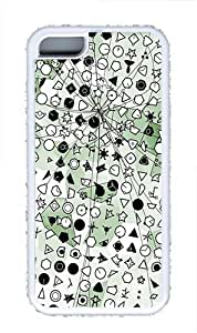 iPhone 5C Case and Cover -Symbolic Green Crystallization TPU Silicone Rubber Case Cover for iPhone 5C ¨CWhite