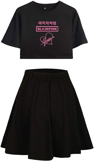 Blackpink Conjunto de Dos Piezas de Mujer Crop Top + Falda ...