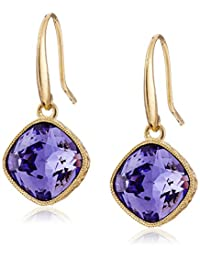"""Signature 1928 """"1928 Signature Collection"""" Gold-Tone Faceted Swarovski Crystal Drop Earrings"""