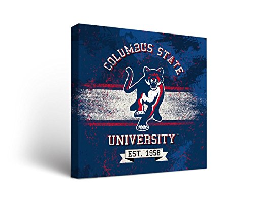 Victory Tailgate Columbus State University Cougars Canvas Wall Art Banner Version (24x36)